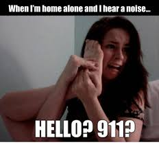 Home Alone Meme - when i m home alone andihear a noise hello 911 home alone meme on
