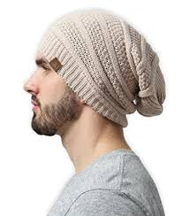 slouchy cable knit beanie by tough headwear chunky