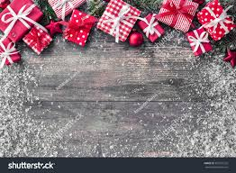 christmas background decorations gift boxes on stock photo