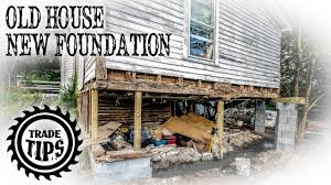 build a house how to jack up a house and build a house foundation under an