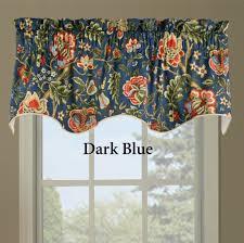 Waverly Window Valances by Home Decoration Astonishing Dark Blue Wavelry Valances Design