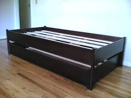 Twin Size Bed Frame With Drawers Daybeds Fabulous Wood Daybed Low With Storage Frame Oak Day Dark