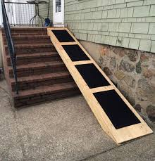 dog ramp for stairs outside how to build dog ramp for stairs