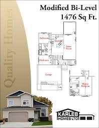 bi level home plans modified bi level 1476 sq ft plans