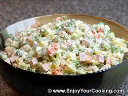 olivier cuisine salad olivier recipe my food recipes tips