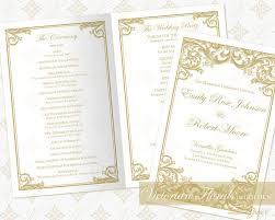 diy wedding ceremony program diy printable wedding ceremony program template printable