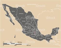 Zacatecas Mexico Map by Mexico Map Vector Outline With Scales States Or Provinces Neighbor