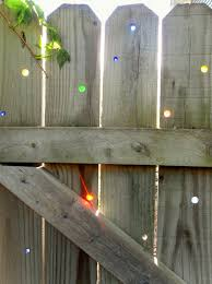 Cheap Fences For Backyard Garden Art On The Cheap Diy Glass Marbles In Your Fence
