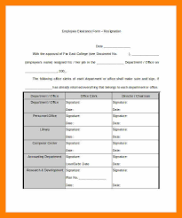employee clearance form application letter template for salary