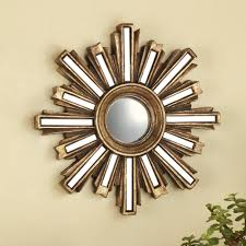 home decor wall mirrors amazon com gold deco sunburst wall mirror home u0026 kitchen