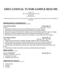 Resume For English Tutor Ideas Collection Sample Resume For Tutoring Position For Format