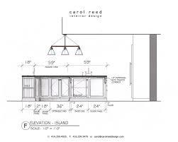 size of kitchen island height of kitchen island kitchen design