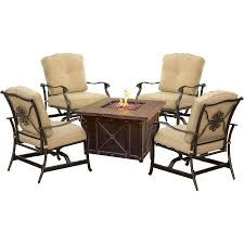 Summer Chair Cushions Summer Nights 5 Piece Fire Pit Set In Natural Oat Summrnght5pctan