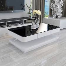 glossy white coffee table white coffee tables ebay