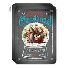 personalized photo post card snow globe cards