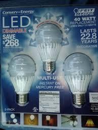 75 watt led light bulbs feit 7 5 watt a19 dimmable led light bulbs 3 pack equiv to 40 watts