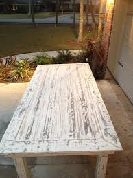 White Washed Pallet Farmhouse Table Pallet Furniture DIY Http - Distressed white kitchen table