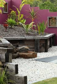 wood retaining wall patio contemporary with concrete contemporary