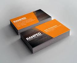New Business Cards Designs Business Card Design Cory Wiergowski Ramped Construction