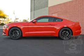 Red And Black Mustang Gt 2015 2017 Mustang 19x9 5 Up100 10 Spoke Wheel Matte Black Up100