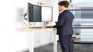 Adjustable Height Office Desk by Electric Ergonomic Standing Office Desk Height Adjustable Youtube