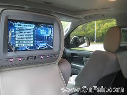 toyota highlander dvd headrest 2012 toyota sequoia car headrest dvd player install customer