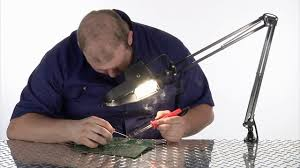 workbench magnifying glass with light magnifier l 4in magnifying glass model 23201004 youtube