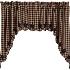 Primitive Kitchen Curtains Primitive Country Kitchen Curtains Primci Country Window Treatments