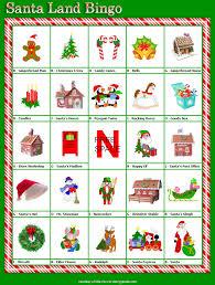 6 best images of free printable santa bingo printable santa