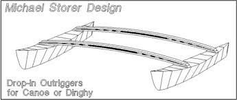 Wooden Boat Plans For Free by Drop In Outrigger Plan For Canoes Kayaks Dinghies Videos