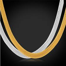 wholesale chain necklace images Collare mesh chain necklace for men jewelry gold color stainless jpg