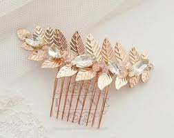 gold hair comb etsy