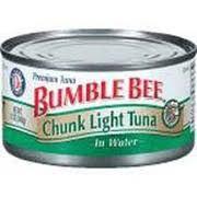 bumble bee chunk light tuna bumble bee chunk light tuna in water calories nutrition analysis