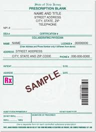 new jersey approved prescription script pads