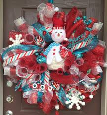 daisies u0026 stars diy curly deco mesh snowman wreath 2015 aka the