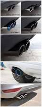 2pcs car automobiles exhaust muffler pipe tip for volkswagen vw