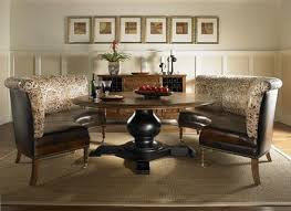Dining Room Banquette Sets BLACK ROUND DINING ROOM TABLE - Dining room banquette bench