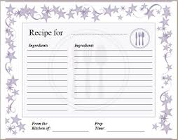 blank recipe card template formal word templates