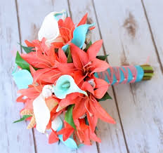 seashell bouquet touch coral and seashell bouquet