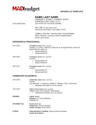 spanish resume template how to create a resume for jobs in spain
