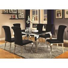 city furniture dining room sets glamorous coaster carone contemporary glam dining room set with