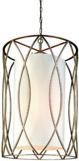 sausalito 25 wide silver gold pendant light troy lighting f1288 sausalito 8 light pendant with fabric shade deep