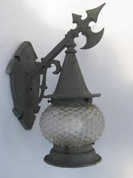 Porch Sconce Vintage Gothic Handwrought Style Metal Porch Sconce Light Wall