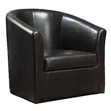 Swivel Accent Chair Coaster Vinyl Swivel Accent Chair Black 902098 Staples