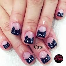 gelish nail design for cat lovers homenails beautiful nails