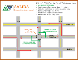 Salida Colorado Map by Work To Begin In Downtown Salida After Labor Day Weekend U2014
