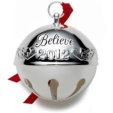 2012 wallace believe sleigh bell silverplate ornament