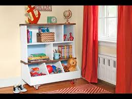 Bookshelf And Toy Box Combo How To Build A Kids U0027 Bookcase Youtube