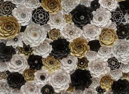 gold flowers black and gold flowers new paper flower walls garcinia cambogia home