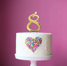 gold cake topper gold cake topper 7cm number 8 bake
